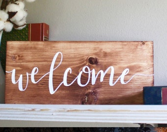 Mini Welcome Sign   Wooden Sign