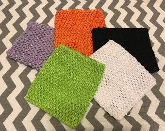 6 inch crochet tutu top-waffle stretchy top-crochet-baby-girl-tutu-no sew tutu-unlined top