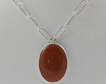 Sunstone Sterling Necklace