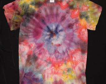 IcePie tiedye small bullseye design tshirt purple blue hippie hippy icedye hipster indie festival rave acid psychedelic