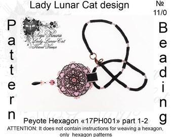 Rose lace patterns, Hexagon peyote pattern, Spring patterns, Vintage peyote, Geometric peyote, Peyote stitch, Beading patterns