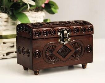 Wedding ring box, Wooden box wedding, Storage box, Jewelry wood box, Wood box, Gift box, Rustic small box, Small wooden box, Keepsake box