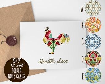 Rooster Love Note Cards
