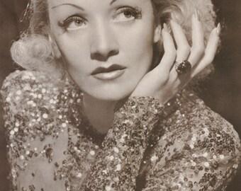 Marlene Dietrich Rare Vintage Poster