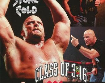 Wrestling WWF Stone Cold University Steve Austin  Poster