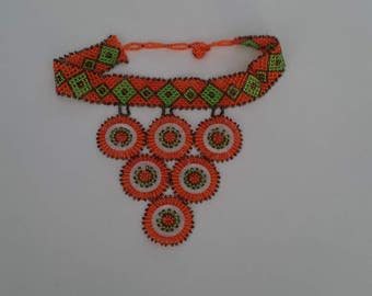 Unique hand beaded South African Necklace