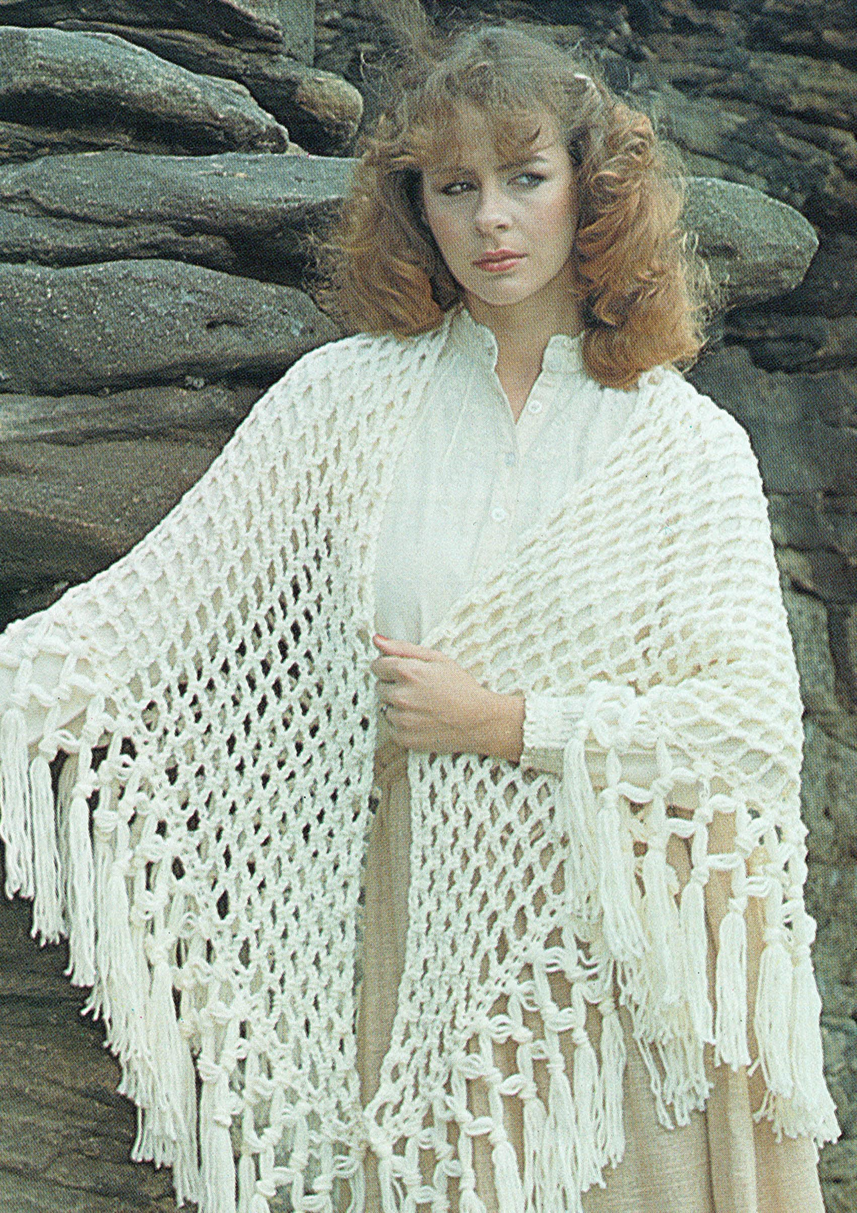 Pdf Vintage Womens Ladies Romantic Fringe Shawl Irish