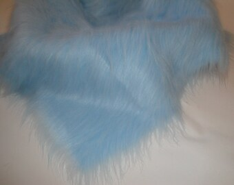"Photo Prop Blue Faux Fur, Fabric, Basket Stuffer, Basket Filler, 20"" x 20"", 50cm x 50cm"