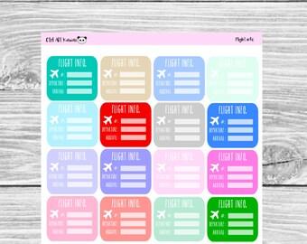 Flight info. planner sticker
