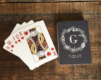 Personalized Chalk Wedding Playing Cards Custom Black Deck Of Unique Favors