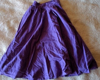 1990 purple circle full skirt