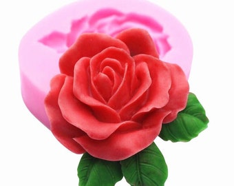 Large Silicone Rose Flower Mold for Fondant, Gum Paste, DIY Soap, Chocolate, Cake Decoration