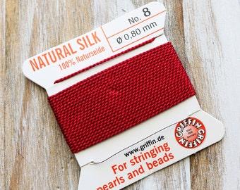 Garnet Red Silk, Garnet Red, Garnet Silk, Garnet Silk, Pearl Silk, Red Silk Thread, Jewelry Making, Jewelry Silk, Jewelry Thread,