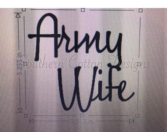 Army Wife Decal Yeti