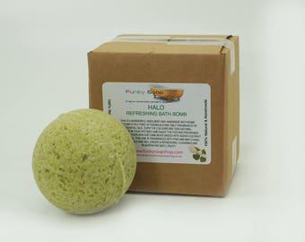 HALO Refreshing Bath Bomb, 1 piece 5cm diameter