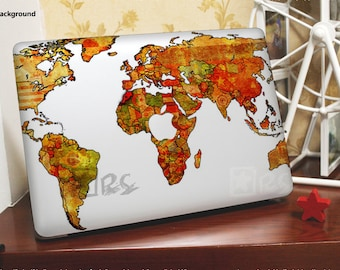 Macbook pro world map decal etsy hk mac pro decals world maps macbook pro stickersmac gumiabroncs Choice Image
