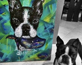 Custom pet portrait. Pop art