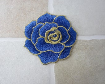 Blue Flower Sew On Patch