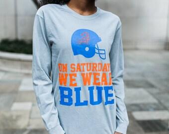 On Gameday We Wear Blue Florida Women's Gameday Tshirt