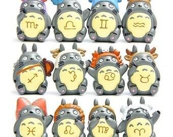 super cute Totoro figure // zodiac signs // kawaii craft supply