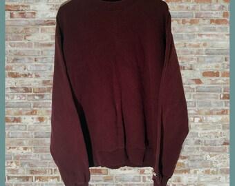 Vintage Champion Crewneck Sweatshirt Burgundy Large