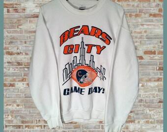 SALE Vintage Chicago Bears Crewneck Sweatshirt Medium