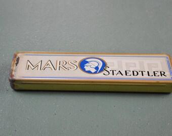 Tin Pencil Box, Mars Staedtler Tin, German Tin, Vintage Pencil Tin, #424