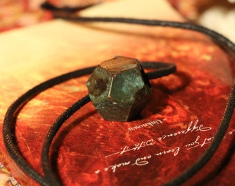 Bronze Dodecahedron Necklace - Cupric Nitrate Patina