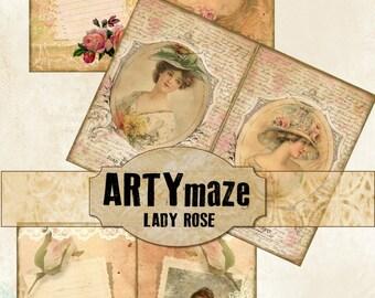 LADY ROSE Digital Journal  *instant download*