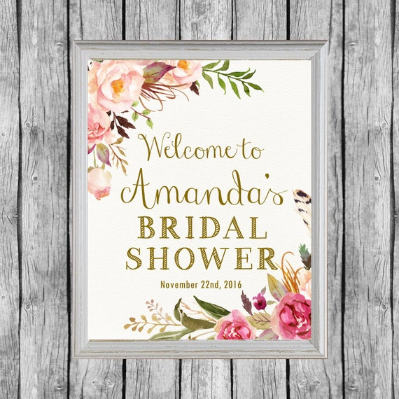 Gutsy image inside printable bridal shower signs