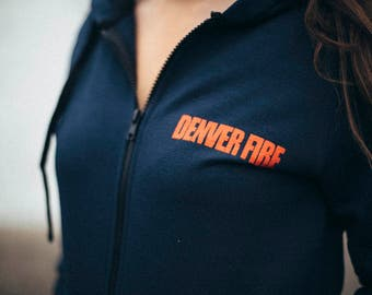 Denver Fire cotton zipper hoodie