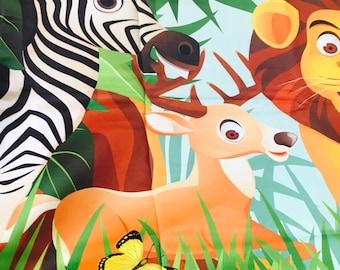 Beautiful animal print curtain pair