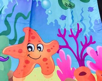 Sea world kids room Curtain pair