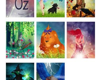 Wizard of Oz 8 Postcard Set