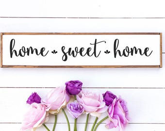 Home sweet home sign // home sweet home / rustic home decor / home sweet home wood sign / rustic wood signs // wooden sign / housewarming