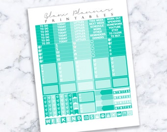 Printable Planner Stickers: 04 (Erin Condren Life Planner PDF)