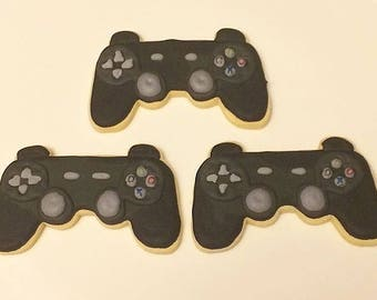 Game controller decorated sugar cookies