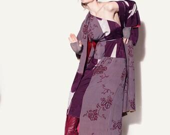 Kimono asymmetrical dress