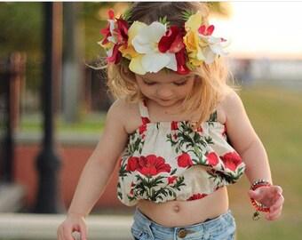 Moana crown / Hawaiian crown / flower crown / Hawaiian flower crown