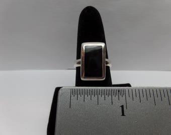 Vintage Sterling Silver Black Onyx Ring /FDM