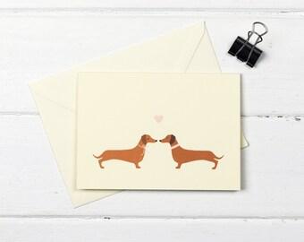 Dachshund love greetings card