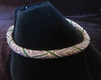 Beaded crochet necklace. Purple, Green, gold beads. Beaded harness necklace Purple, Green, gold beads, Beaded necklace, Beaded harness