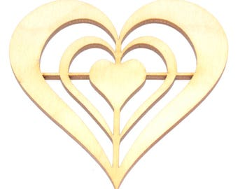 Concentric Hearts Arts and Crafts Stencils 8 cm Size: 5 Pack