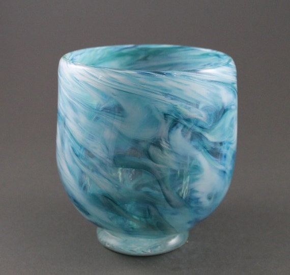 Hand Blown Footed Bowl