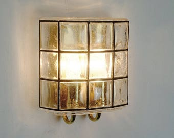 mid century WALL LAMP glashuette limburg bubble glass - more lamps available