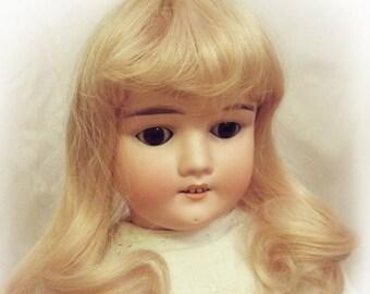 "Wig for doll, long natural hair. Antique dolls, ArtDolls, BJD. Colors blond, dark blond, red blond. Size 27-29 cm (11"")"