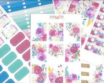 Megan Collection  -  For Erin Condren Life Planner Happy Planner Plum Paper kikki k filofax planner stickers
