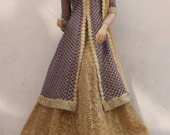Sherwani Style Lehenga.