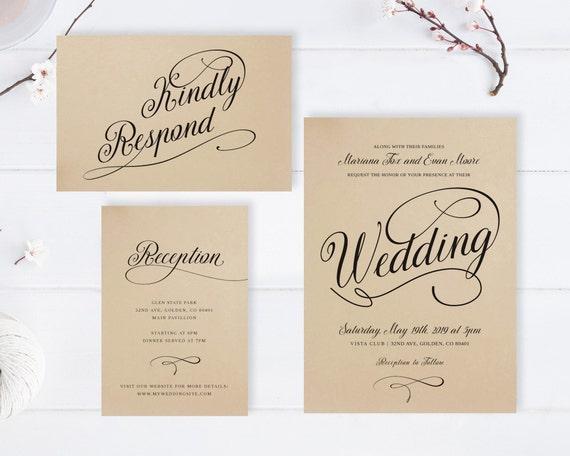 Cheap Country Wedding Invitations: Kraft Wedding Invitations Cheap Rustic Wedding Invitation