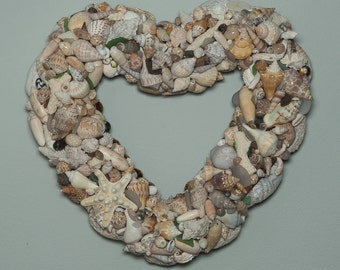 Shell Wreath - Heart Shaped
